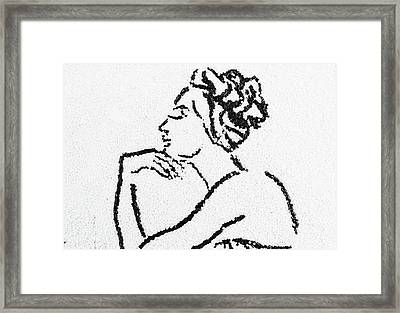 Woman Framed Print by Natalya A