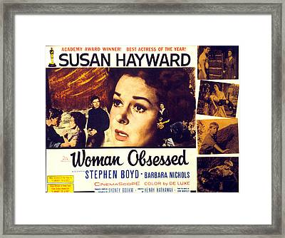 Woman Obsessed, Susan Hayward, Stephen Framed Print by Everett