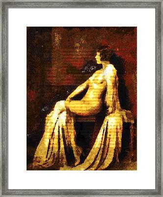 Woman Of The Night Framed Print by Georgiana Romanovna