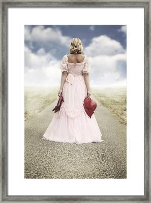 Woman On A Street Framed Print by Joana Kruse