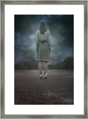 Woman On Street Framed Print by Joana Kruse