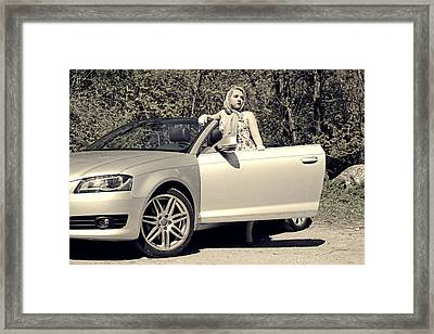 Woman With Convertible Framed Print by Joana Kruse