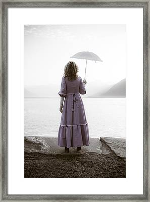 Woman With Parasol Framed Print by Joana Kruse