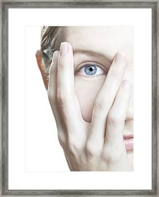 Woman's Eye Framed Print by
