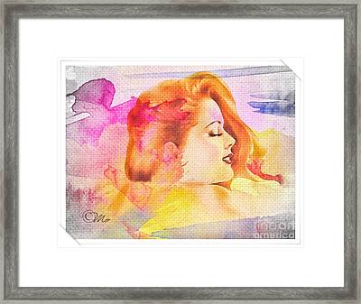 Woman's Soul Part 4 Framed Print by Mo T