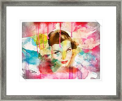 Woman's Soul Prelude Framed Print by Mo T