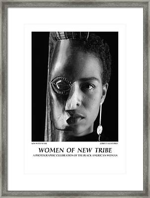Women Of A New Tribe - Kim With Mask Framed Print by Jerry Taliaferro