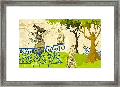 Women Of The Dragonflies Framed Print by Autogiro Illustration