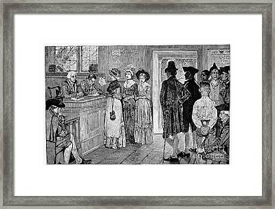 Women Voting, C1800 Framed Print by Granger