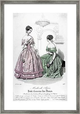 Womens Fashion, 1843 Framed Print by Granger