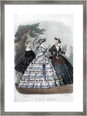 Womens Fashion, 1860 Framed Print by Granger