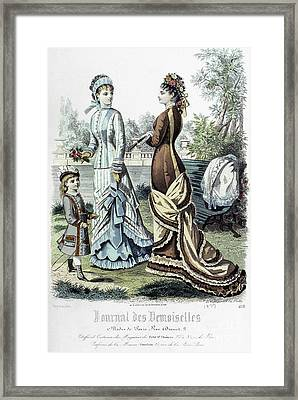 Womens Fashion, 1877 Framed Print by Granger