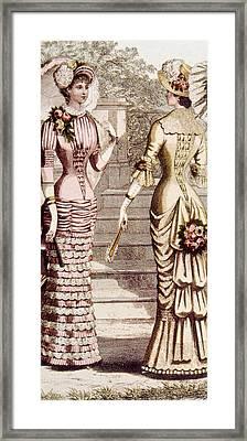 Womens Fashion, Circa 1880s Framed Print by Everett