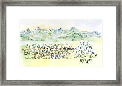 Wonder Splendor II Framed Print by Judy Dodds