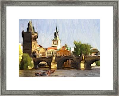 Wonderful Prague Framed Print by Steve K