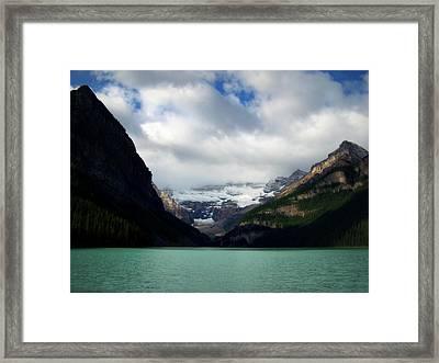 Wonderland Of Lake Louise Framed Print by Karen Wiles