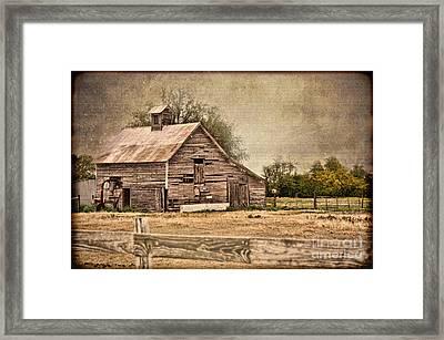 Wood Barn Framed Print by Betty LaRue