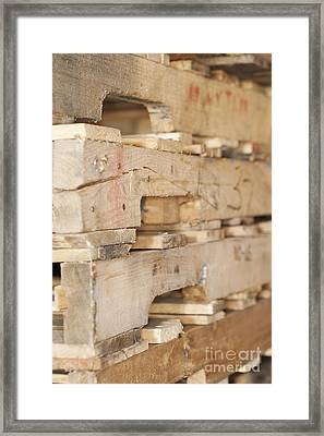 Wood Pallets Framed Print by Shannon Fagan
