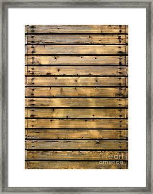 Wood Planks Framed Print by Carlos Caetano