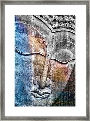 Wooden Buddha Framed Print by Carol Leigh