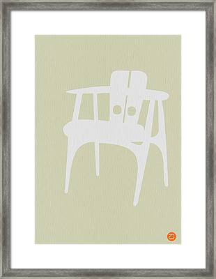 Wooden Chair Framed Print by Naxart Studio
