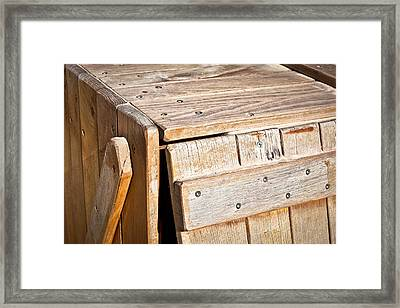 Wooden Crate Framed Print by Tom Gowanlock