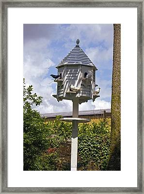 Wooden Dovecote Framed Print by Dr Keith Wheeler