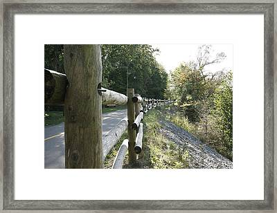 Wooden Fence Framed Print by Philip Porteus