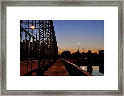 Wooden Sidewalk On The Sixth Street Bridge Framed Print by Richard Gregurich