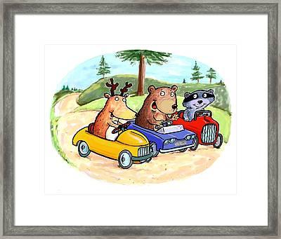 Woodland Traffic Jam Framed Print by Scott Nelson