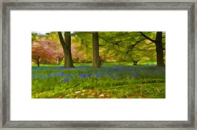 Woodland Watercolour Framed Print by Trevor Kersley