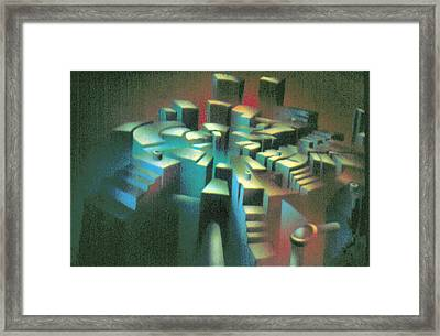 Woodscape 1980 Framed Print by Glenn Bautista