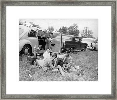 Woodstock Picnic Framed Print by Three Lions