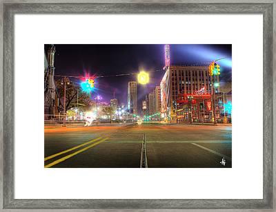 Woodward Ave Detroit Mi Framed Print by Nicholas  Grunas