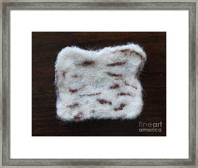 Wool Matzah Framed Print by Heather Hennick