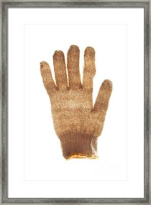 Woolen Glove Framed Print by Bernard Jaubert