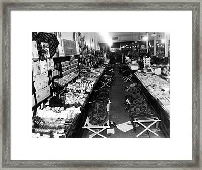 Woolworths Having A Sit-down Strike Framed Print by Everett