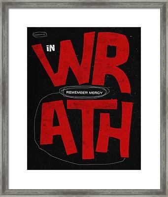 Word Habakkuk Framed Print by Jim LePage