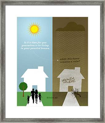 Word Haggai Framed Print by Jim LePage