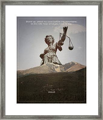 Word Micah 2 Framed Print by Jim LePage