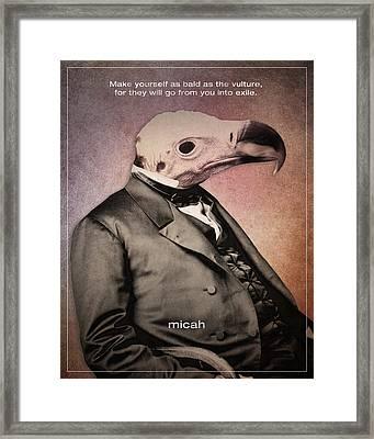 Word Micah Framed Print by Jim LePage