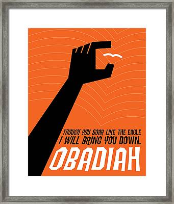 Word Obadiah Framed Print by Jim LePage
