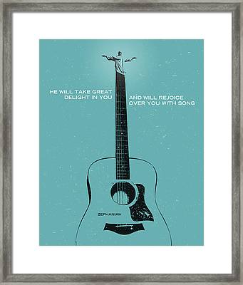 Word Zephaniah Acoustic Framed Print by Jim LePage