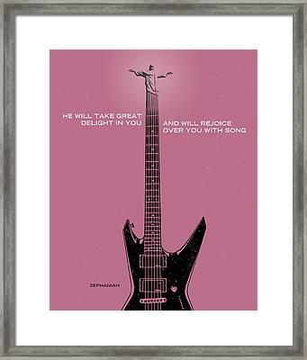 Word Zephaniah Jackson Framed Print by Jim LePage