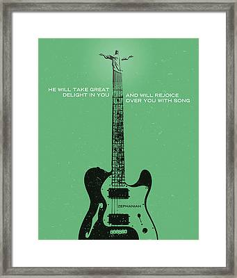 Word Zephaniah Tele Framed Print by Jim LePage
