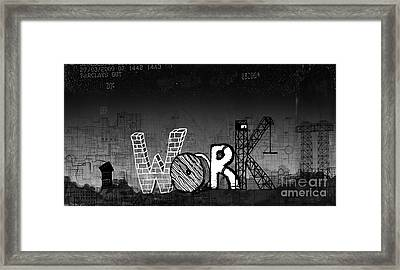 Work Framed Print by Andy  Mercer