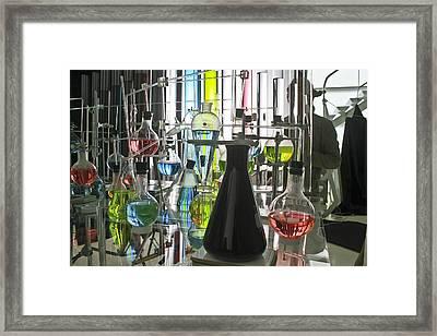 Working Laboratory Framed Print by Kantilal Patel