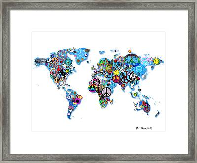 World Peace Framed Print by Bill Cannon