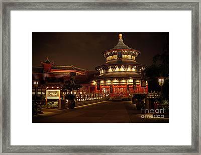 World Showcase - China Pavillion Framed Print by AK Photography