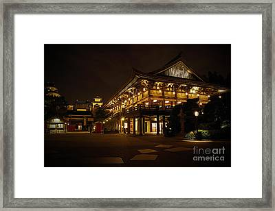 World Showcase - Japan Pavillion Framed Print by AK Photography